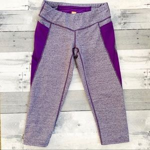 Lucy | Purple Space Dyed Cropped Leggings S